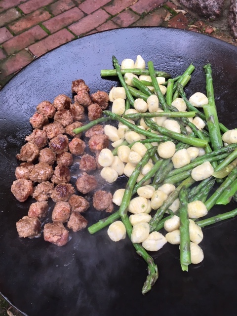 Sausage, Asparagus & Gnocchi