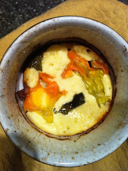 Scamorza Broil With Blossoms