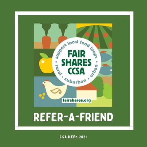 Refer-a-Friend for CSA Week