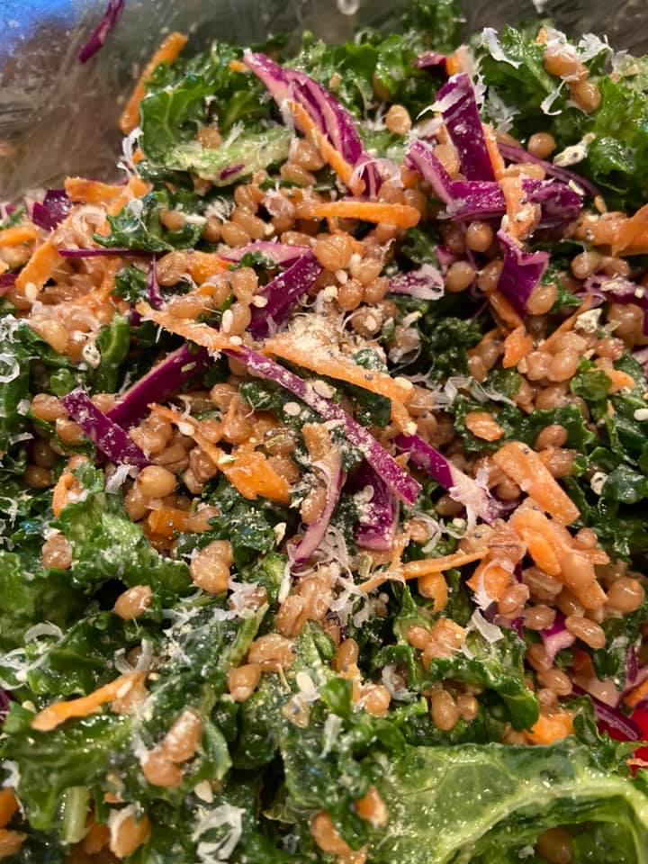 Kale Salad w/Wheat Berries